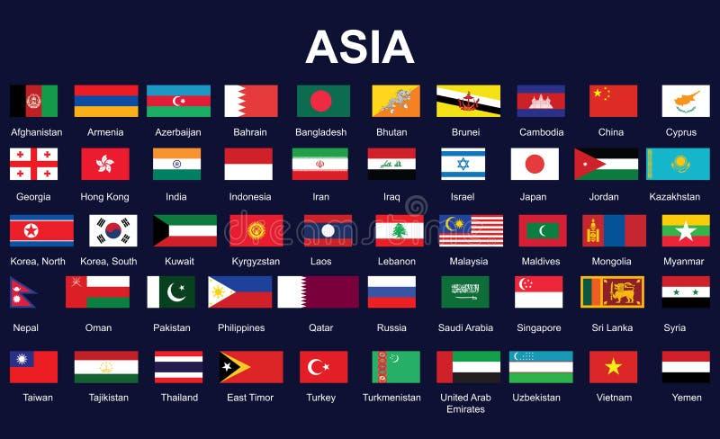 Bandierine dell'Asia royalty illustrazione gratis