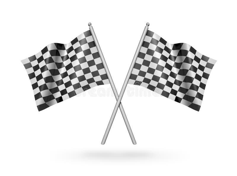 Bandierine di corsa Checkered illustrazione 3D royalty illustrazione gratis