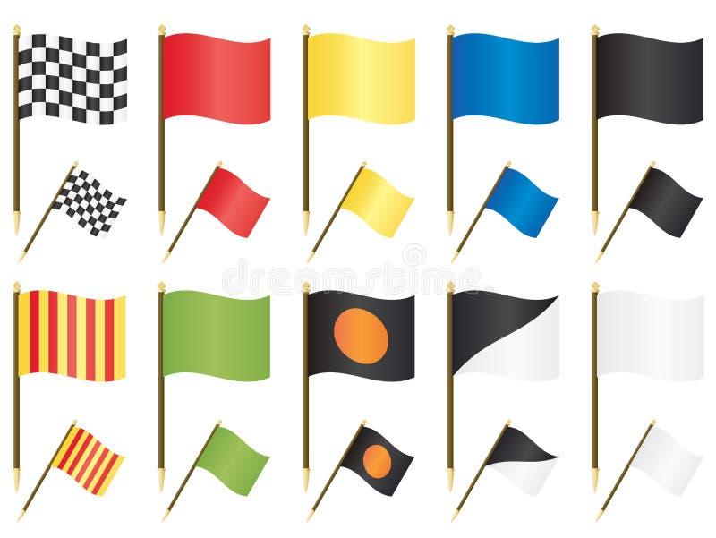 Bandierine di Formula 1 royalty illustrazione gratis