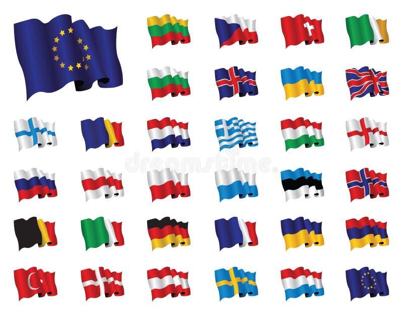 Bandierine europee royalty illustrazione gratis