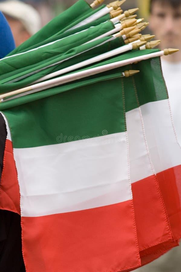 Bandierine italiane immagine stock libera da diritti
