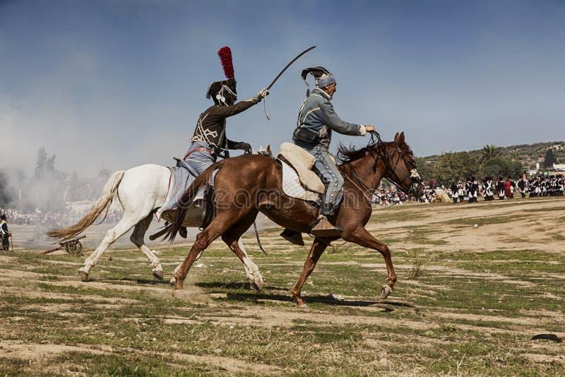 Bandiet in de herdenking van de slag van Bailen stock afbeeldingen