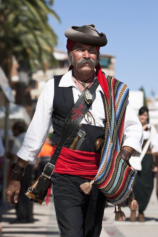 Bandiet in de herdenking van de slag van Bailen royalty-vrije stock afbeeldingen