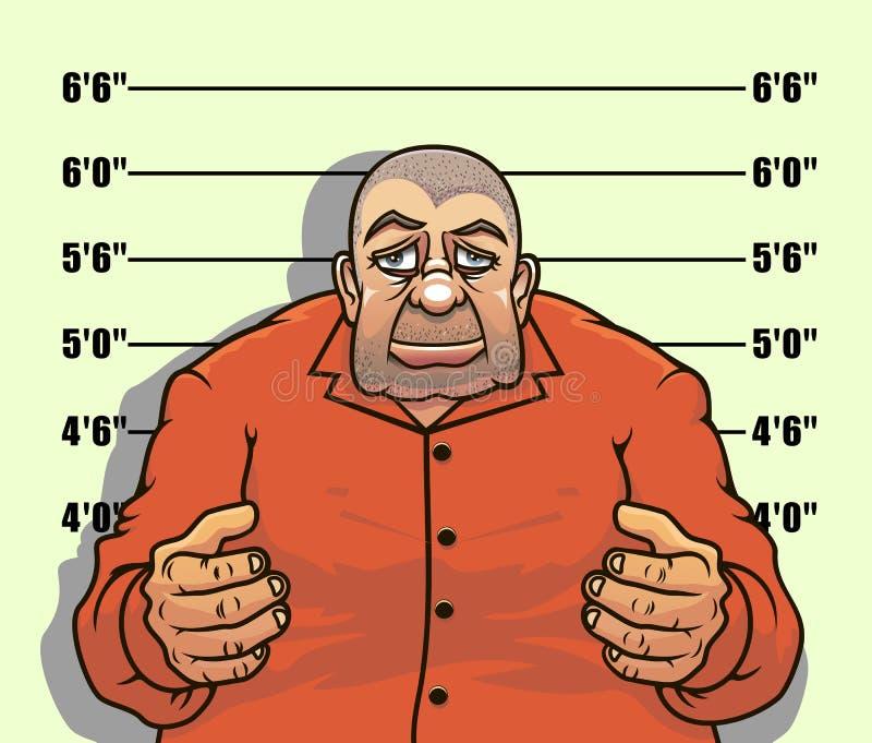 Bandiet en gangster vector illustratie