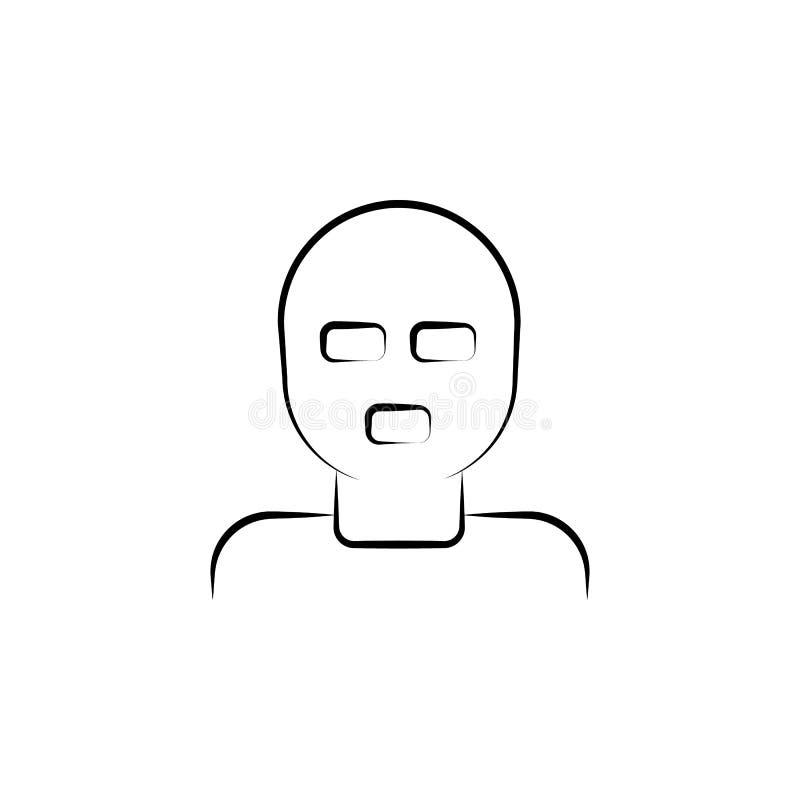 bandiet, maffia, rover, troep, misdadig pictogram Element van misdaadpictogram voor mobiel concept en Web apps Hand getrokken ban stock illustratie