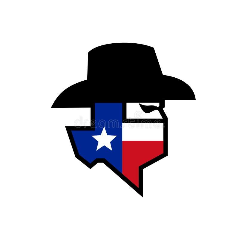 Bandiet Texas Flag Icon royalty-vrije illustratie
