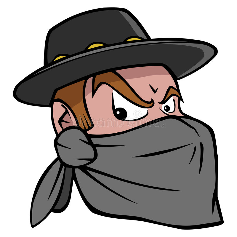 Download Bandit stock illustration. Image of bandit, scarf, sombrero - 5434069
