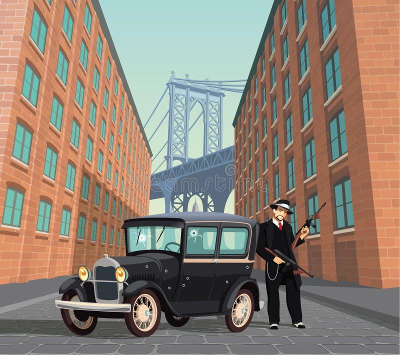 Bandit de Mafia de New York illustration de vecteur
