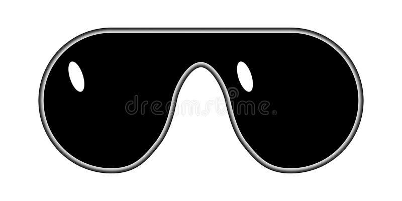 Bandit de style d'art de meme en verre, mode de vie de voyou, meme de voyou de lunettes de soleil de vecteur pour des photos de c illustration stock