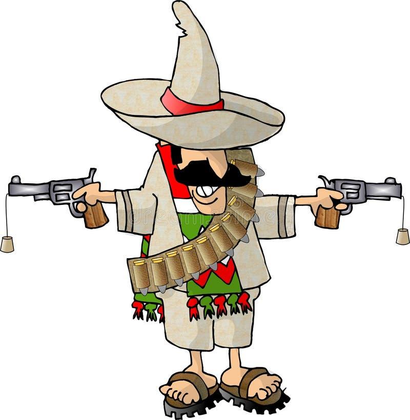 Bandito messicano illustrazione vettoriale