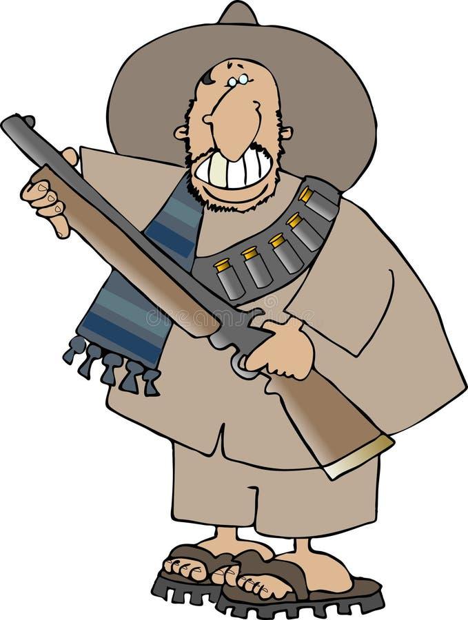 banditomexikan vektor illustrationer