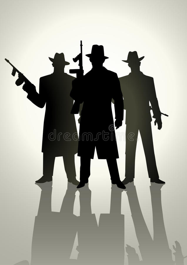 bandits illustration stock