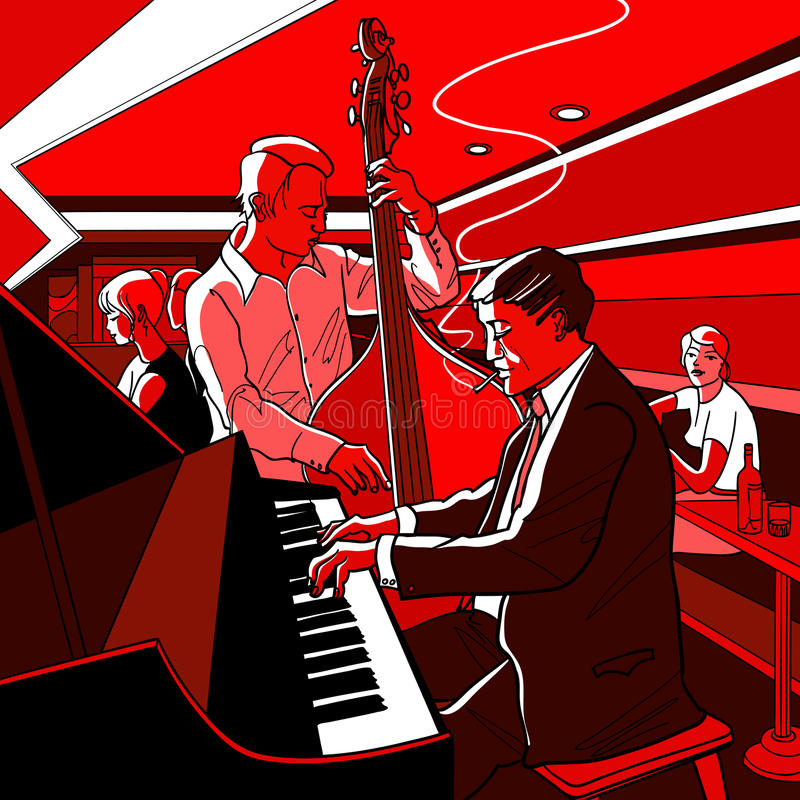 bandjazz stock illustrationer