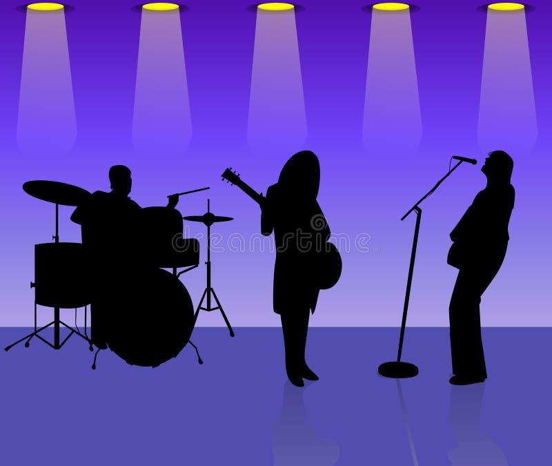 bandmusiker stock illustrationer