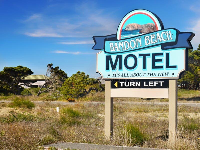 Bandon海滩假期,俄勒冈太平洋海岸 免版税库存照片