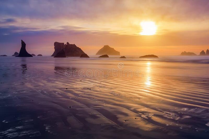 Bandon plaży zmierzch fotografia royalty free