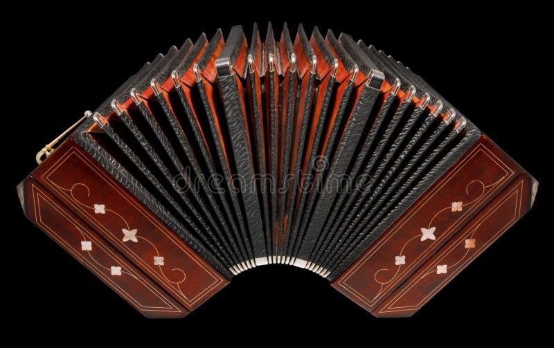 Bandoneon, Argentijns geïsoleerds tangoinstrument, royalty-vrije stock foto