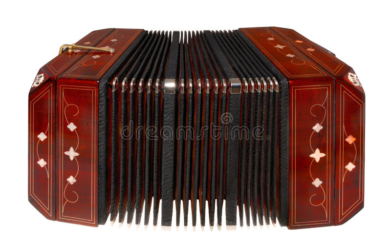 Bandoneon, isolated on white stock photography