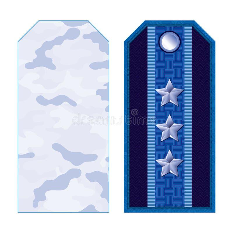 Bandoulières militaires bleues illustration libre de droits