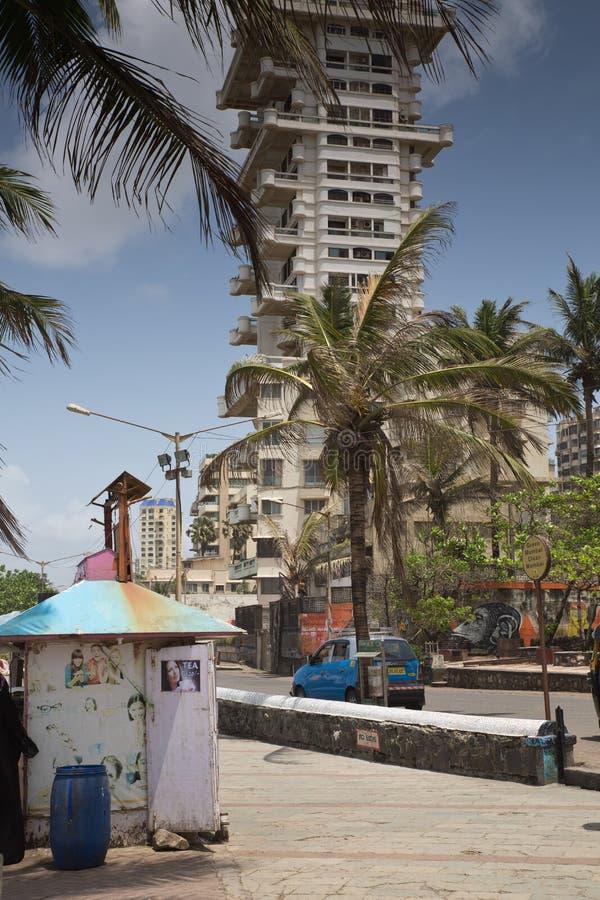 Bandra & x28; Marathi: ‡ do रॠdo  do दॠdo 'do ठdo ¾ do वठ& x29; Praia ocidental de Mumbai imagens de stock royalty free