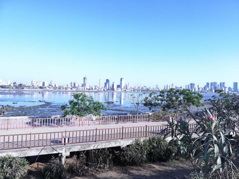Bandra reclamation. Mumbai View stock photography