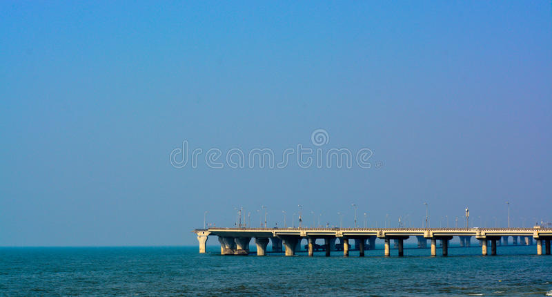 ` Bandra-Worli海链接`,位于孟买市马哈拉施特拉 库存照片