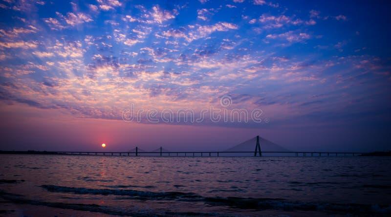 Bandra worli sea link royalty free stock photography