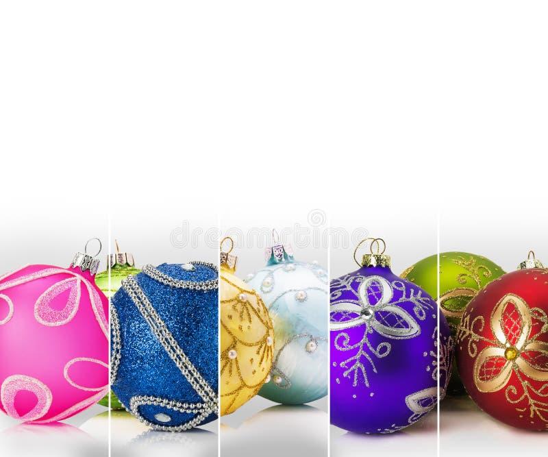 Bandsamlingen med jul klumpa ihop sig på den vita bakgrunden vektor illustrationer