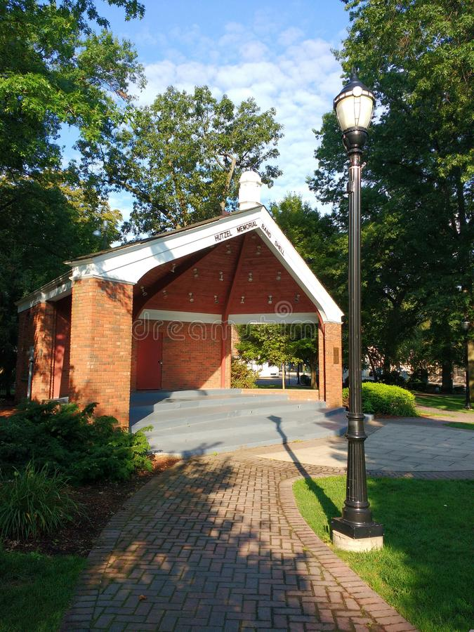 Bandshell, Hutzel Memorial Bandshell, Rutherford, NJ, USA stock photo