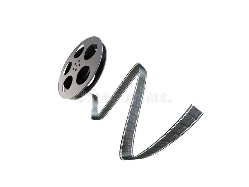 Bandspule des Filmes 3d lizenzfreie abbildung
