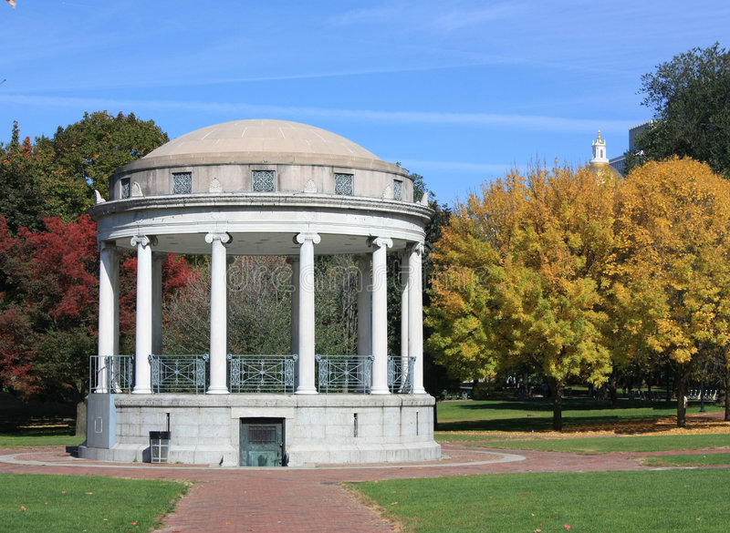 bandstand bostonu błonie parkman zdjęcie stock