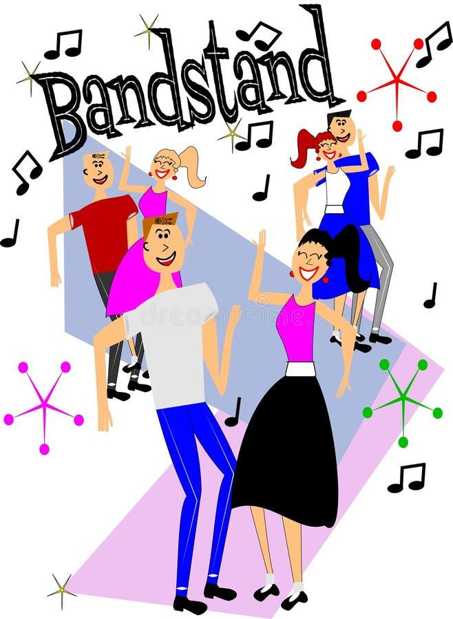 Bandstand dancers stock illustration