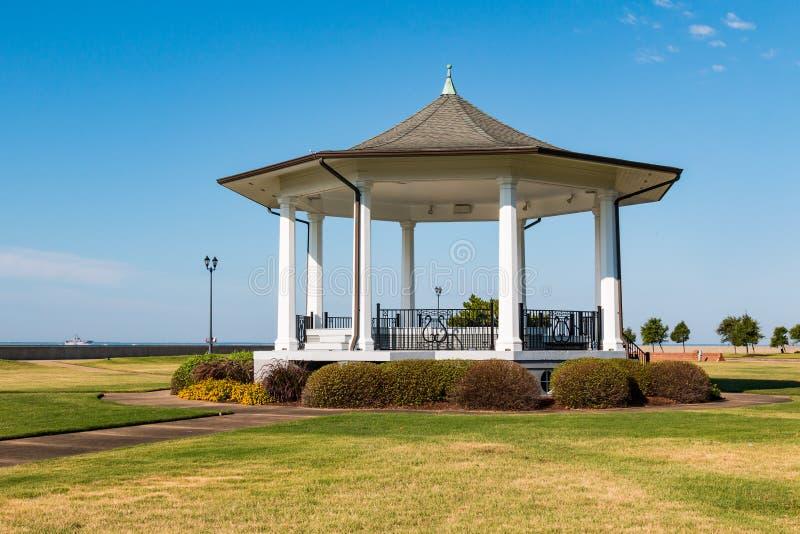 Bandstand przy fortem Monroe w Hampton, Virginia obraz royalty free