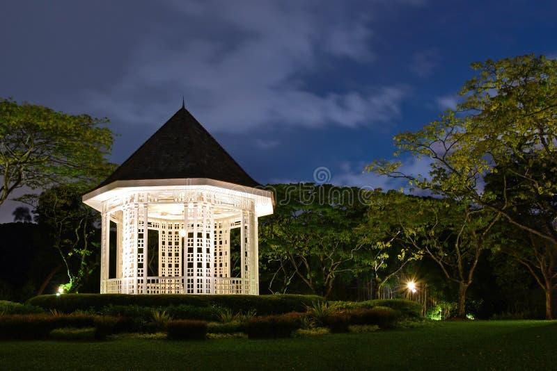Singapore Botanic Gardens Old Bandstand Evening Shot stock image