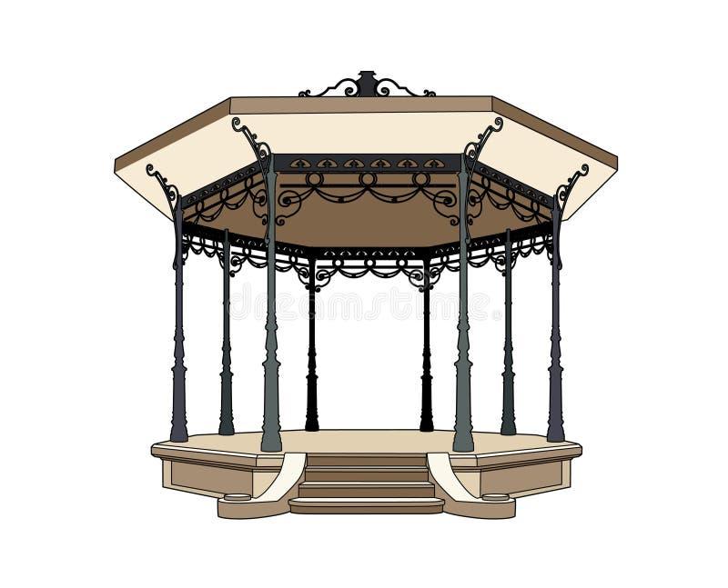 Bandstand 1900 royalty free illustration