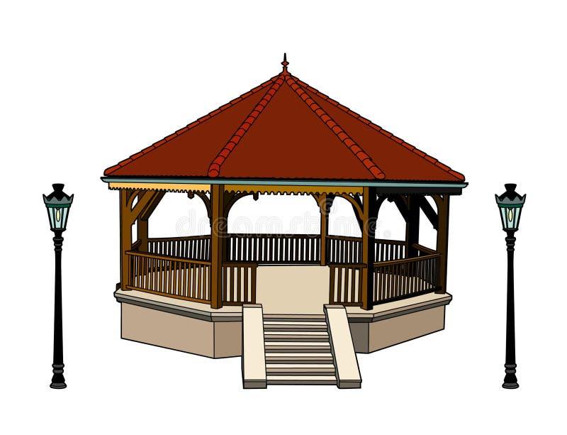 Bandstand royalty free illustration
