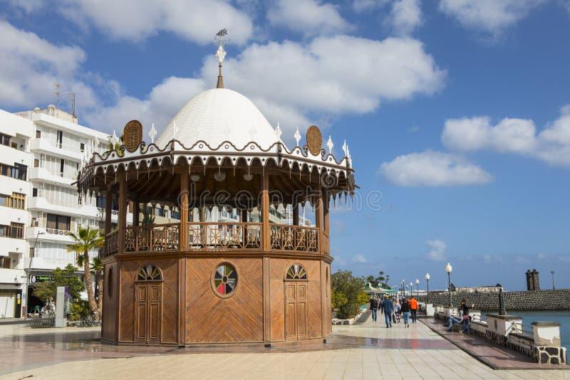 Bandstand w Arrecife w Lanzarote zdjęcie royalty free