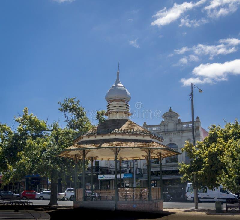 Bandstand w Ballarat, Wiktoria, Australia zdjęcia royalty free