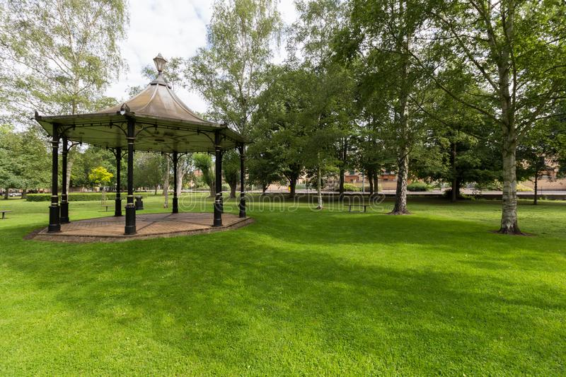 Bandstand w Bloomfield parku, Huntingdon, UK zdjęcia royalty free