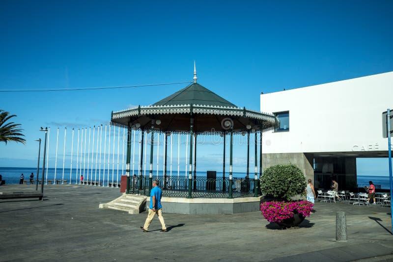 Bandstand w Camara De Lobos który jest wioską rybacką jest blisko miasta Funchal fotografia royalty free
