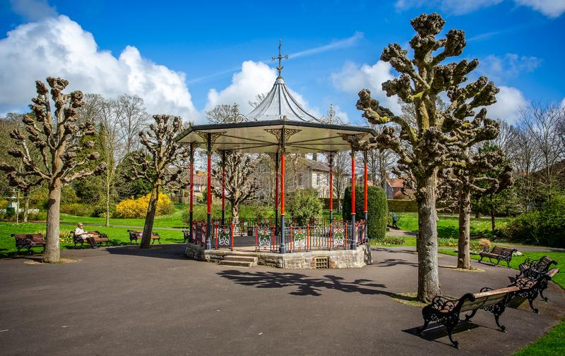 Bandstand w podgrodzie ogródach, Dorchester, fotografia royalty free