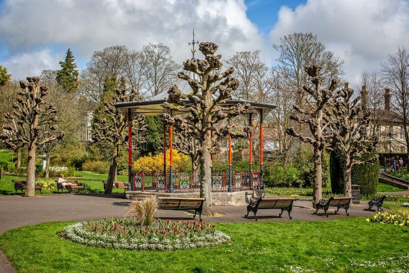Bandstand w podgrodzie ogródach, Dorchester obrazy royalty free