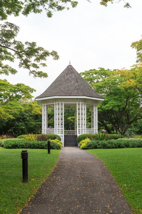 Bandstand w Singapur ogródach botanicznych obraz royalty free