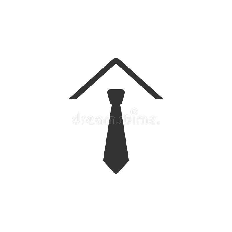 Bandsymbol i moderiktig plan stil som isoleras på vit bakgrund Slipssymbol för din webbplatsdesign, logo, app, UI stock illustrationer