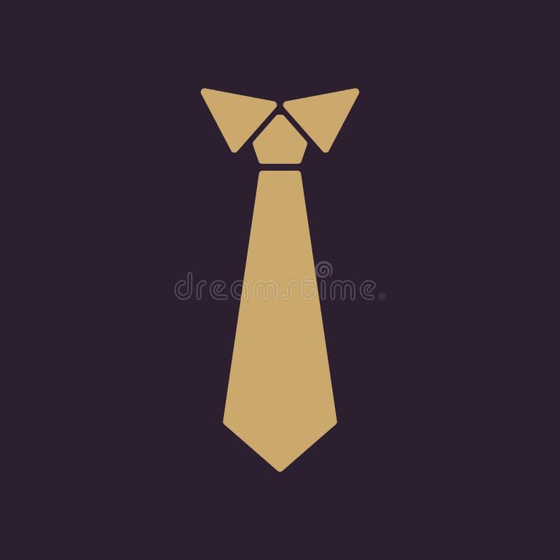 Bandsymbolen Slips- och neckclothsymbol plant vektor illustrationer