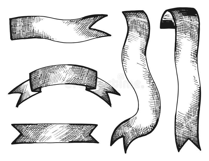 Bandtappning som isoleras på vit bakgrund vektor illustrationer