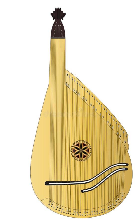 Bandura, instrumento musical ucraniano tradicional imagen de archivo libre de regalías