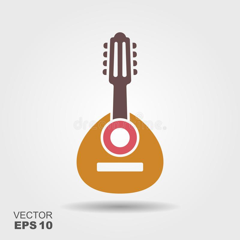 Bandurria espagnol d'instrument de musique folk illustration stock