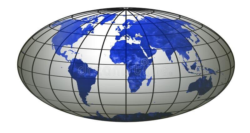 bandvärld för 5 jordklot royaltyfri illustrationer
