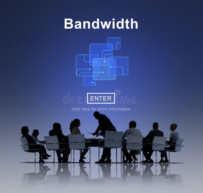 Bandwidth Podłączeniowych dane informaci interneta Szerokopasmowy pojęcie zdjęcie stock